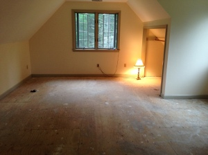 Our master bdrm before the carpet arrives - looks so large without furniture
