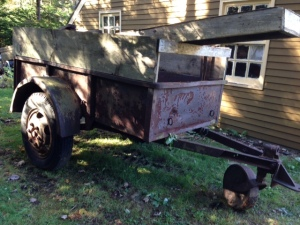 We tried to sell this WWII trailer for $100 but so far, no takers.
