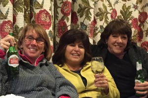 Kelly, Gina and Suzanne. Cheers to Gaye Ln