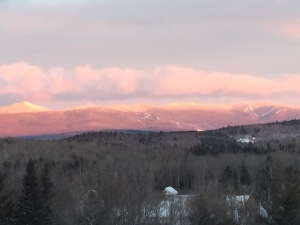 Here is the view from our porch looking at Haystack and Mount Snow. The view to our southwest is of the windmills.